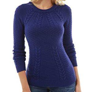 Patty Boutik Blue Cable Knit Sweater XS